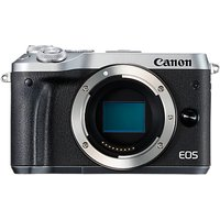 Canon EOS M6 Compact System Camera, HD 1080p, 24.2MP, Wi-Fi, Bluetooth, NFC, 3.0 LCD Tiltable Touch Screen, Body Only