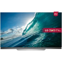 LG OLED65E7V OLED HDR 4K Ultra HD Smart TV, 65 with Freeview Play, Picture-On-Glass Design & Dolby Atmos Sound Bar Stand