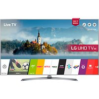 LG 43UJ750V LED HDR 4K Ultra HD Smart TV, 43 With Freeview Play & Crescent Stand, Silver