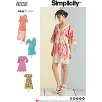 Simplicity Womens Simple Dress Sewing Pattern, 8332