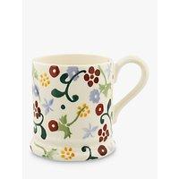 Emma Bridgewater Polka Spring Floral Half Pint Mug, Multi, 284ml
