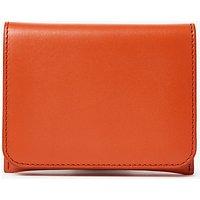 Kin by John Lewis Fia Leather Dual Card Holder, Orange