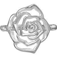 Dower & Hall Wild Rose Flower Ring, Silver
