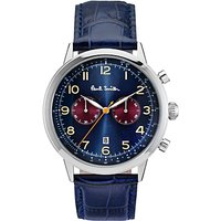 Paul Smith P10012 Mens Precision Chronograph Date Leather Strap Watch, Dark Blue