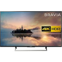 Sony Bravia 49XE7003 LED HDR 4K Ultra HD Smart TV, 49 with Freeview HD & Cable Management, Black
