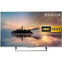 Sony Bravia 49XE7073 LED HDR 4K Ultra HD Smart TV, 49 with Freeview HD & Cable Management, Silver