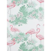 john lewis flamingos wallpaper, multi
