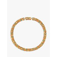 Susan Caplan Vintage 1970s DOrlan 22ct Gold Plated Faux Pearl and Swarovski Crystal Collar Necklace, Multi