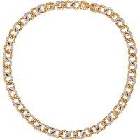 Susan Caplan Vintage 1980s DOrlan 22ct Gold Plated Swarovski Crystal Necklace, Gold/Clear