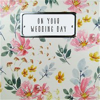 Saffron Cards and Gifts On Your Wedding Day Card