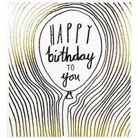 Woodmansterne Birthday Balloon Greeting Card