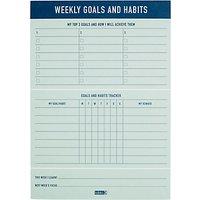 kikki.K B5 Weekly Goals & Habits Pad, Inspiration