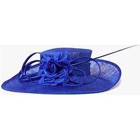John Lewis Sinamay Dehlia Side Up Occasion Hat, Cobalt