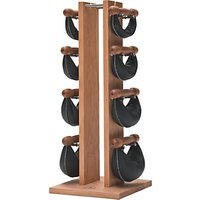 NOHrD by WaterRower Swing Bell Weights Tower Set, Cherry