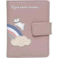 Radley Rainbow Leather Card Holder, Pale Pink