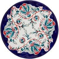 Anthropologie Salma Dinner Plate, Blue/white, Dia.27.9cm