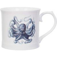 Magpie Curios Octopus Mug, White/Multi, 378ml