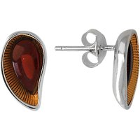 Goldmajor Sterling Silver Gold Plated Amber Earrings, Amber