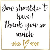 Hammond Gower You Shouldn't Have Thank You Notecards, Pack Of 8