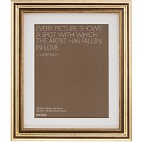John Lewis Distressed Photo Frame with Mount, 8 x 10 (20 x 25cm), Gold