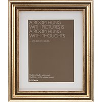 John Lewis Distressed Photo Frame with Mount, 6 x 8 (15 x 21cm), Gold