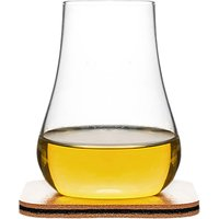 Sagaform Club Whisky Tasting Glasses and Mats, Set of 2
