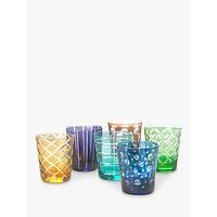 Pols Potten Cuttings Glass Tumbler, Set of 6, 320ml, Assorted