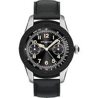 Montblanc 117548 Mens Summit Leather Strap Smart Watch, Black