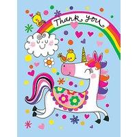 Rachel Ellen Unicorn Thank You Notecards, Pack Of 5