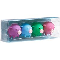 Tinc Pigs Scented Erasers, Set of 4