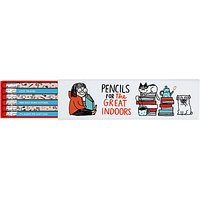 Gemma Correll Great Indoors Boxed Pencils, Pack of 6