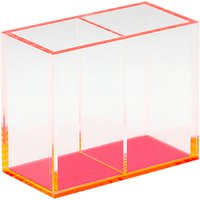 Lund London Chunky Double Acrylic Pen Holder, Pink