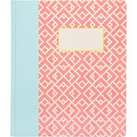 Ohh Deer A5 Moroccan Tile Notebook, Pink