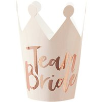 Ginger Ray Team Bride Foiled Crowns, Pack of 5