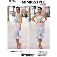 Simplicity Womens Mimi G Style Crop Top and Skirt Sewing Pattern, 8394
