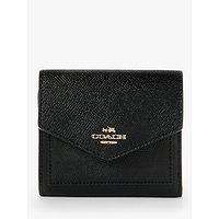 Coach Small Leather Wallet, Black