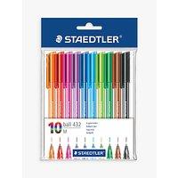 Staedtler Ballpoint Multi Coloured Pens, Pack of 10