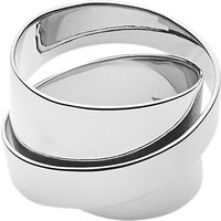 Dyrberg/Kern Louie Sculpture Cocktail Ring, Silver