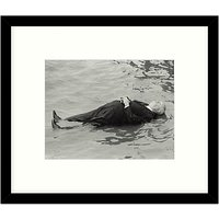 Getty Images Gallery - Hitchcock In The Water 1971 Framed Print, 57 x 49cm
