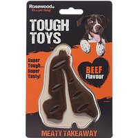 Rosewood Meaty Takeaways Steak Dog Toy, Small