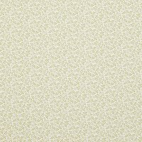 John Louden Ditsy Vines Fabric, Green/Cream