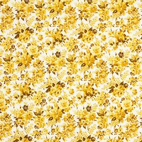 Sevenberry Watercolour Flower Print Fabric, Yellow