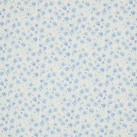 Viscount Textiles Floral Print Fabric, Light Blue/White