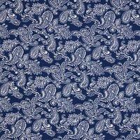 Oddies Textiles Paisley Print Fabric, Blue/White