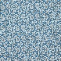 Rose & Hubble Vintage Rose Fabric, Blue/Cream