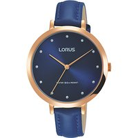Lorus RG230MX9 Womens Leather Strap Watch, Blue