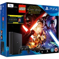 PS4 Slim Console, 1TB, with LEGO Star Wars: The Force Awakens Game + Blu-Ray Movie