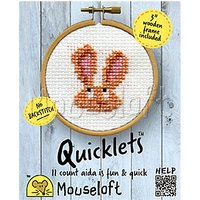 Mouseloft Quicklets Bunny Counted Cross Stitch Kit
