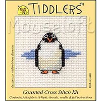 Mouseloft Tiddlers Penguin Counted Cross Stitch Kit