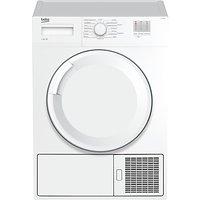 Beko DTGC8000W Freestanding Condenser Tumble Dryer, 8kg Load, B Energy Rating, White